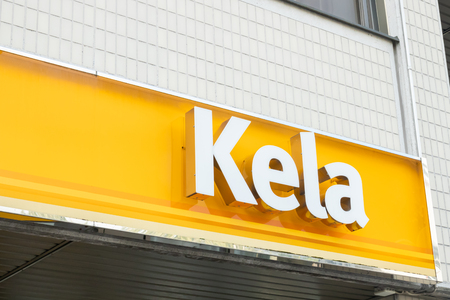 Kouvola, Finland - 22 September 2019: Office of Kela. Kela is Finnish Social Insurance Institution. Editöryel