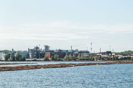 Lappeenranta, Finland - August 7, 2019: Upm factory in Lappeenranta, Finland