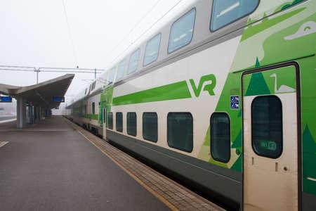 Kouvola, Finland 31 March 2016 - Kouvola railway station.