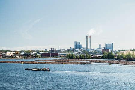 Lappeenranta, Finland - August 7, 2019: Upm factory in Lappeenranta, Finland Фото со стока - 151079045