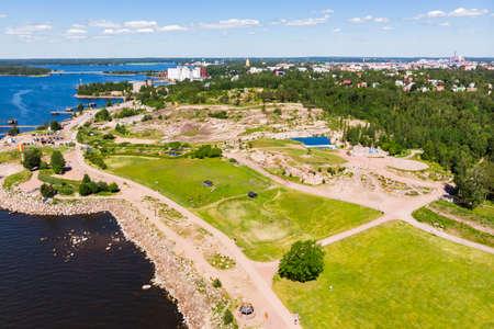 Kotka, Finland - 22 June 2020: Aerial summer view of Katariina Seaside Park.