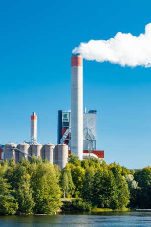 Kouvola, Finland - 15 September 2020: Upm Kymi factory in Kuusankoski. Sajtókép