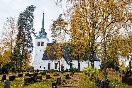 Kouvola, Finland - 11 October 2020: Church of Valkeala 新闻类图片