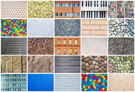 Collage of 25 different textures, full size 免版税图像