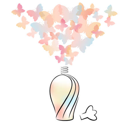 scent: Perfume bottle with butterflies