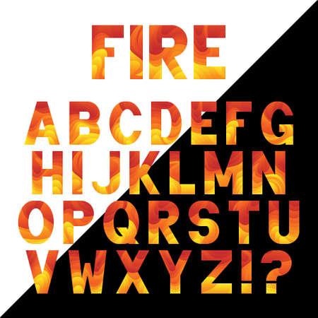 Bright neon alphabet  with fluid effect. Vector font design.