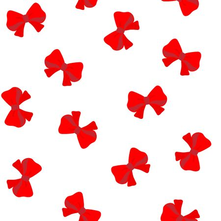 Seamless vector pattern with red bows.
