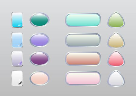 Color buttons for sites with a metal frame.