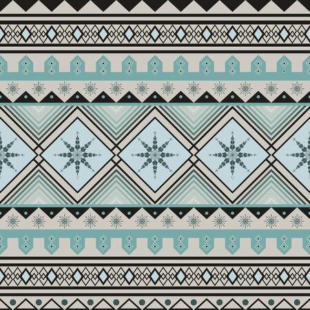 reiteration: Seamless geometric pattern. Christmas winter design.