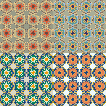 Moroccan tiles with stars, arabic geometric pattern.