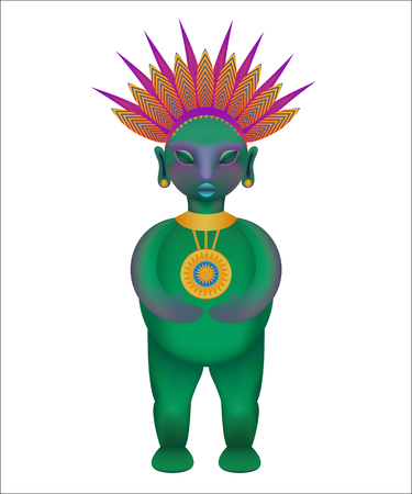 Tribal figurine. Ilustrace