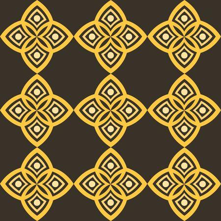 幾何学的な文体とアラビア語のモチーフを持つ抽象的なパターン。  イラスト・ベクター素材