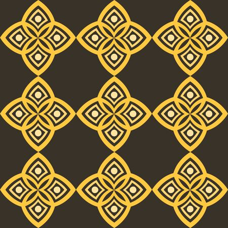Abstract pattern with geometric stylistics and Arabic motif.