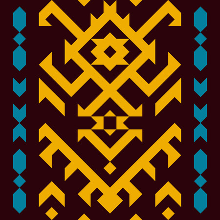American tribal seamless pattern. Geometric design in ethnic style. Illusztráció