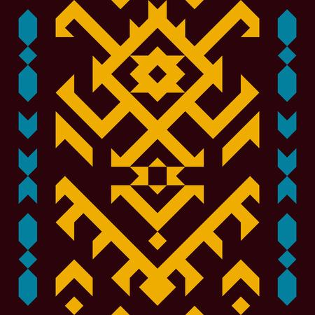American tribal seamless pattern. Geometric design in ethnic style. Illustration