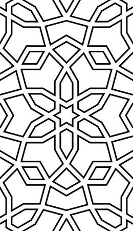 Ornement sans couture arabe. Abstrait. Modèle islamique avec des constructions géométriques.