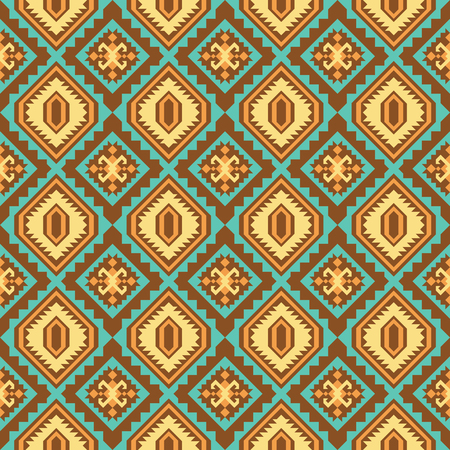 Tribal seamless pattern. Geometrical ornament with ethnic motifs. Illustration
