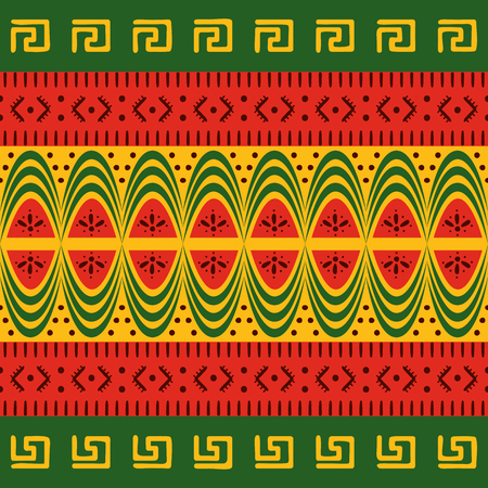 Colorful ethnic seamless pattern. African textiles. Vector illustration.
