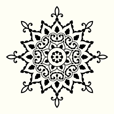 Mandala with decorative circular ornament. Vector design element.