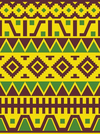 Ethnic Peruvian ornament. Geometric seamless pattern.