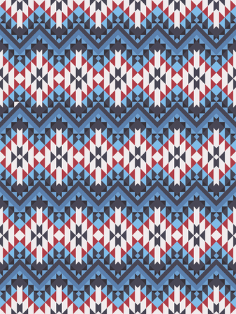 Ethnic seamless Aztec pattern. Geometric design.
