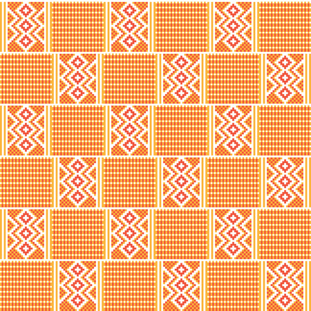 Ghana kente fabric. African print. Tribal vector pattern.  イラスト・ベクター素材