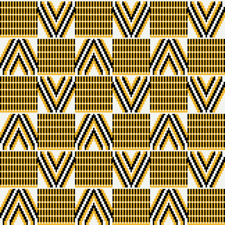 Ghana kente fabric. African print. Tribal vector pattern.