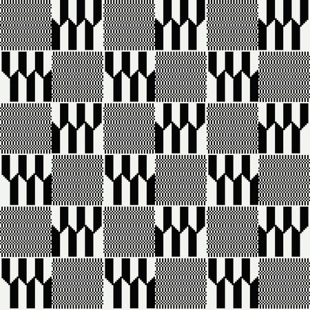 Ghana kente fabric. African print. Tribal vector pattern.  イラスト・ベクター素材