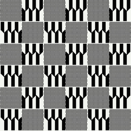 Ghana kente fabric. African print. Tribal vector pattern. 向量圖像