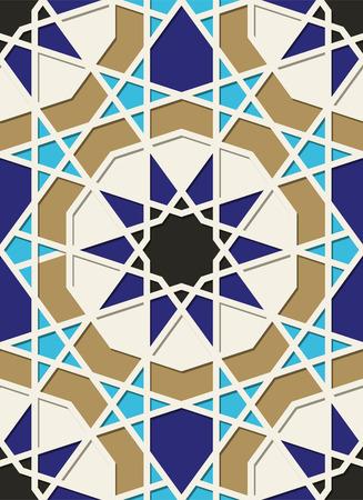 Traditional Arabic geometric ornament. Eastern seamless pattern.