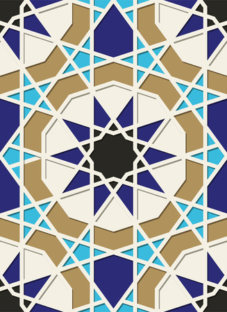 Traditional Arabic geometric ornament. Eastern seamless pattern.