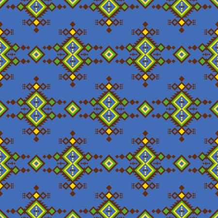 Vector seamless ethnic pattern. Geometric design.