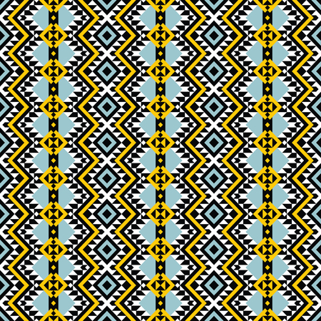 Indian seamless pattern, geometric ornament, navajo print, boho style. Stock Illustratie