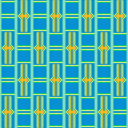 African textile fabric, cloth kente. Ethnic seamless pattern. Imagens - 104390734
