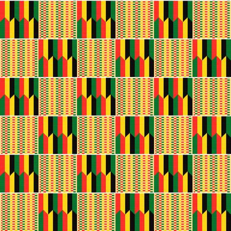 Tejido textil africano, paño kente. Modelo inconsútil étnico.