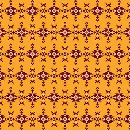 Ethnic tribal print, aztec navajo geometric kilim fabric. Boho style seamless pattern.