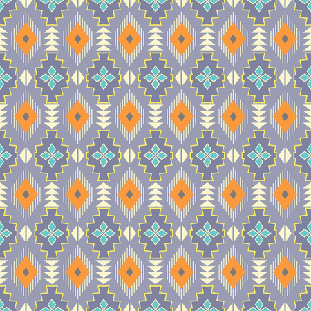 Geometric aztec navajo print. Ethnic tribal seamless pattern. Stock Illustratie