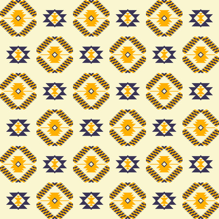 Aztec navajo geometric print. Ethnic seamless pattern. Fabric design, wallpaper, wrapping.