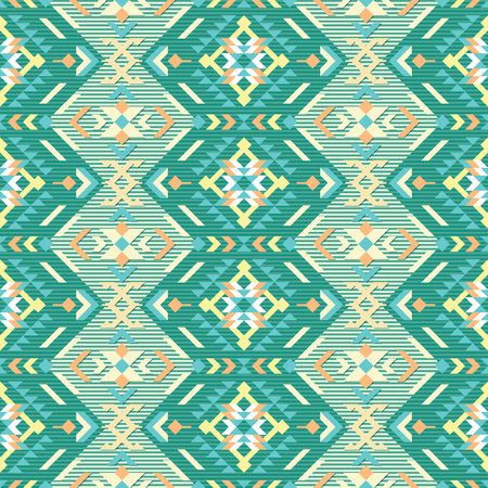 Geometric ethnic seamless pattern. Can be used for textile, backgrounds, web, wrapping paper, package etc. Stock Illustratie