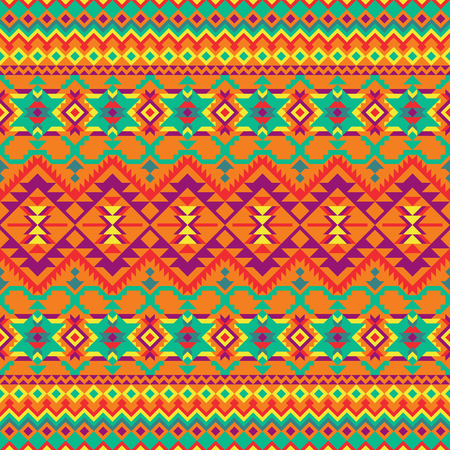 Ethnic seamless pattern. Colorful geometric design for textile, backgrounds, web, wrapping paper, package etc.