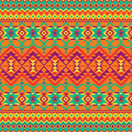 Modelo inconsútil étnico. Diseño geométrico colorido para textiles, fondos, web, papel de regalo, paquete, etc.