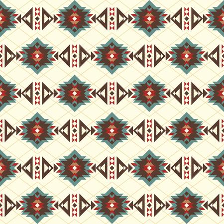 Patrón sin fisuras con motivos indios americanos. Azteca, boho, tejido nativo, fondo, papel de regalo, paquete, etc.