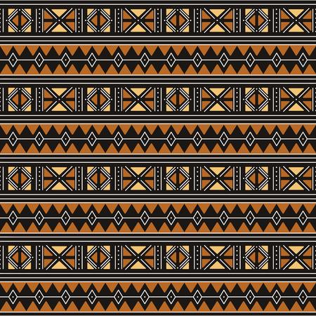 Modello senza cuciture tribale. Panno di fango africano tradizionale.