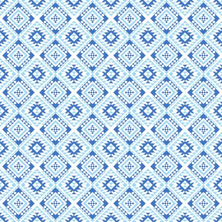 Patrón transparente geométrico azteca. Nativo americano, impresión del suroeste indio. Papel pintado de diseño étnico, tela, tapizado, textil, tejido, envoltura.