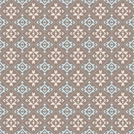 Patrón sin fisuras geométrico azteca. Nativos americanos, impresión del suroeste indio. Papel pintado de diseño étnico, tejido, tapizado, textil, tejido, envoltura. Ilustración de vector