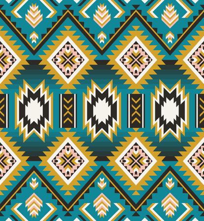 Azteekse geometrische naadloze patroon. Native American, Indian zuidwesten print. Etnisch designbehang, stof, omslag, textiel, weving, verpakking. Vector Illustratie