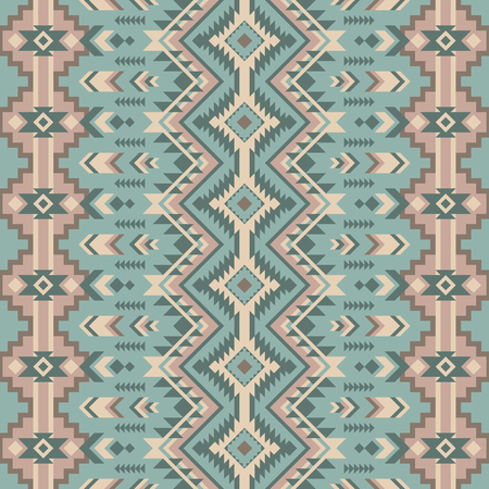Aztec geometric seamless pattern. Native american, indian southwest print. Ethnic design wallpaper, fabric, cover, textile, weave, wrapping.