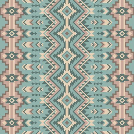 Azteekse geometrische naadloze patroon. Native American, Indian zuidwesten print. Etnisch designbehang, stof, omslag, textiel, weving, verpakking.