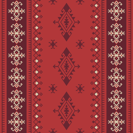 Ethnic tribal seamless pattern. Aztec, boho, native fabric, background, wrapping paper, rug etc.