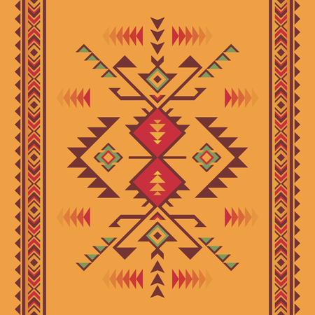 Patrón sin fisuras geométrico azteca. Nativos americanos, impresión del suroeste indio. Papel pintado de diseño étnico, tejido, tapizado, textil, tejido, envoltura.